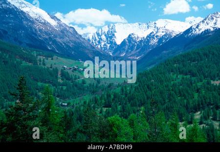 Valley near Sestriere - Stock Photo
