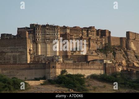 Mehrangarh Fort in Jodhpur India - Stock Photo