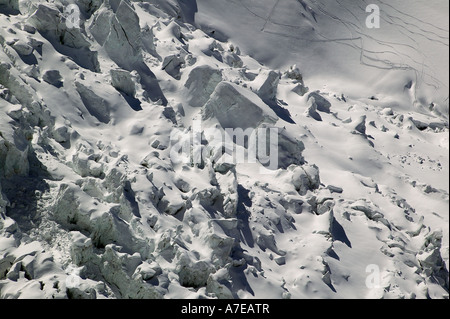 Glacier Des Bossons, Mont Blanc - Stock Photo