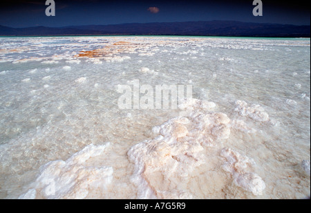 Lac Assal Lake Assal Djibouti Djibuti Africa Afar Triangle - Stock Photo