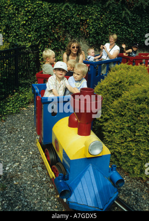 Children On Train Ride At Legoland (windsor) in the Uk - Stock Photo