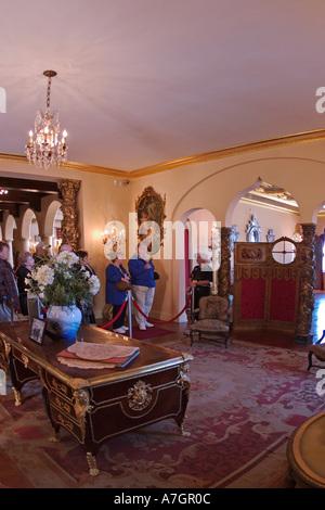 Interior of Ca d Zan Mansion home of John & Marble, Ringling, Sarasota, Florida - Stock Photo