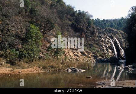 Mantenga falls Swaziland - Stock Photo