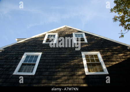Detail of house Rockport Massachusetts USA - Stock Photo