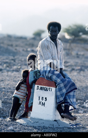 Djibouti, Tadjoura, Afars tribe - Stock Photo
