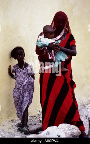Djibouti, woman of Afars tribe - Stock Photo