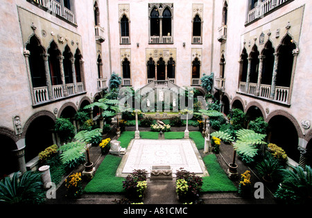 United States, Massachussets, Boston, Isabella Stewart Gardner Museum, in a Venitian-style Palace - Stock Photo
