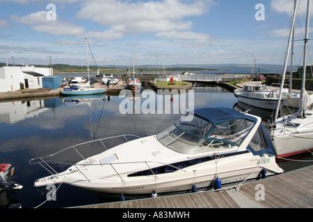crinan canal marina yachts argyll and bute scotland - Stock Photo