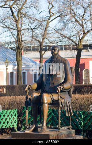 Mikhail Chemiakin's statue of Peter I. - Stock Photo