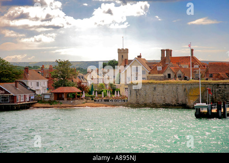 Yarmouth Harbour front Isle of Wight Hampshire England Britain UK - Stock Photo