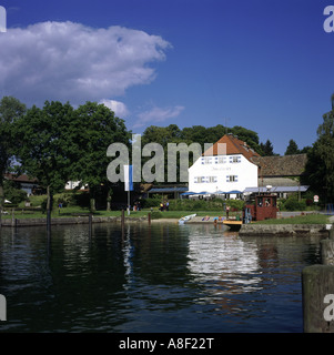 geography / travel, Germany, Bavaria, landscapes, Chiemsee, Frauenchiemsee, restaurant, Europe, landscape, Upper - Stock Photo
