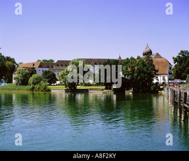 geography / travel, Germany, Bavaria,  Frauenchiemsee, city views / cityscapes, at the landing stage of the Fraueninsel, - Stock Photo