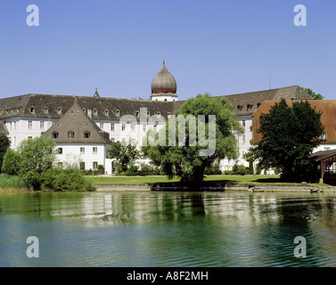 geography / travel, Germany, Bavaria, Frauenchiemsee, buildings, cloister Frauenwörth, exterior view, built: 1728 - Stock Photo