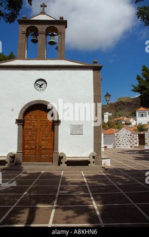 St. Jose Church built in 1880 in Fataga village in the municipality of San Bartolome de Tirajana in Gran Canaria, - Stock Photo
