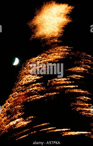 Abstract Christmas tree lights. - Stock Photo