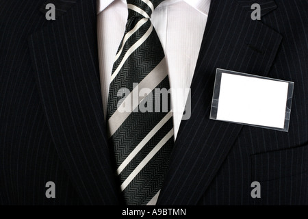 Empty business namebadge to be filled in with your own design - Stock Photo
