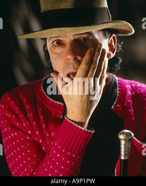 Ian Dury studio portrait - Stock Photo