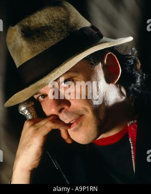 Ian Dury studio portrait head - Stock Photo