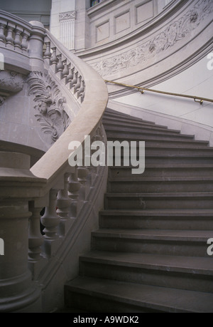 Staircase in Palais des Beaux Arts Lille Nord France - Stock Photo