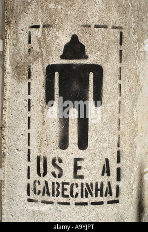 Creative promotion for condoms / AIDS campaign: Use your little head (portuguese: use a cabecinha), Rio de Janeiro, - Stock Photo