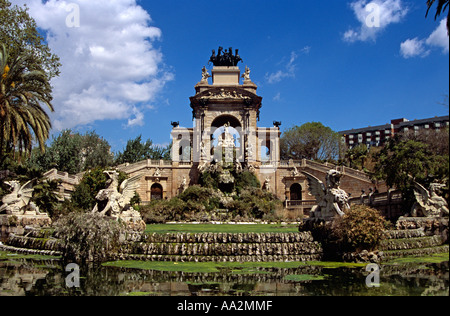 Font Monumental, Parc de la Ciutadella, Barcelona, Spain - Stock Photo