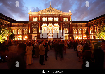 A function at the Victoria and Albert Museum in the courtyard, London - Stock Photo