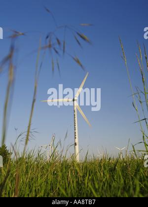 windpark Parndorf, Austria, wind wheels - Stock Photo