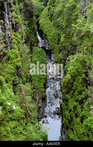 Falls of Measach Braemore Wester Ross Scotland - Stock Photo