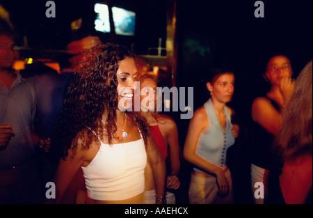 Girl dancing in La Pirata Nightclub Iracema Fortaleza Ceara Brazil - Stock Photo