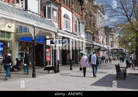 Southport Town centre shopping arcade, Lord Street, Merseyside uk - Stock Photo