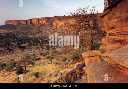 Bandiagara Escarpment - Pays Dogon, MALI - Stock Photo