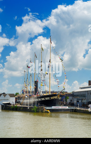 Isambard Kingdom Brunel's SS Great Britain in it's final resting place, the Great Western Dockyard in Bristol - - Stock Photo