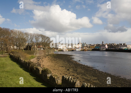 UK Scotland Western Isles Outer Hebrides Lewis Stornoway from Lews Castle - Stock Photo
