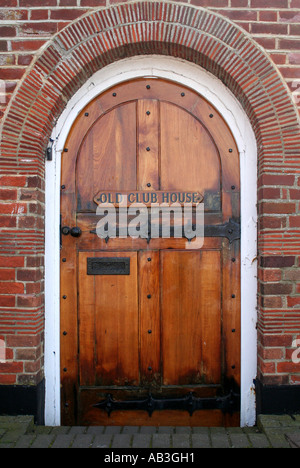 Old Wooden Arched Period Door in Burnham on Crouch, Essex, England - Stock Photo