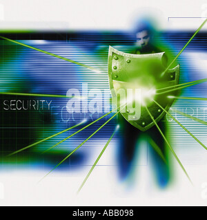 Security shield - Stock Photo