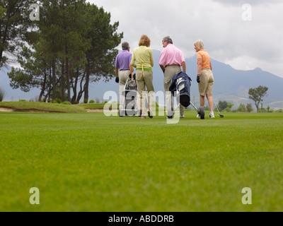 Golfers - Stock Photo