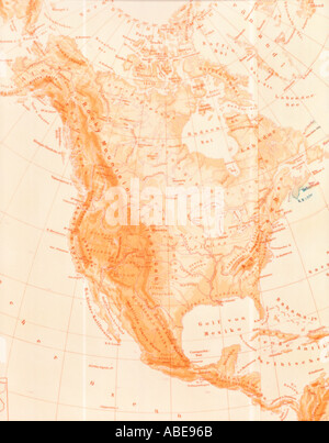 Map of North America - Stock Photo
