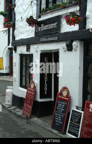 The Buccanear Restaurant in Polperro Cornwall England United Kingdom UK - Stock Photo