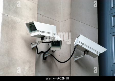 CCTV security cameras London England UK - Stock Photo
