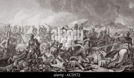 Waterloo The decisive charge of the guards 18 June 1815 - Stock Photo