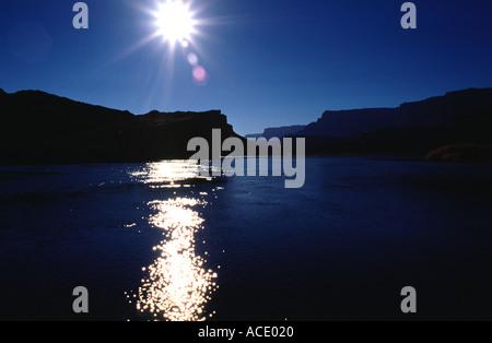 Lees Crossing Colorado River Grand Canyon Arizona USA - Stock Photo