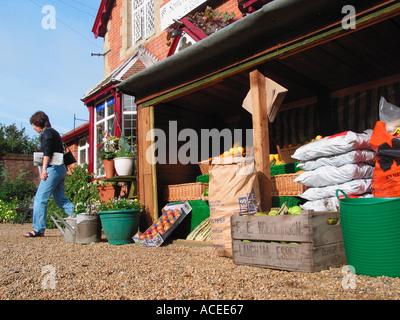 English Village Shop - Stock Photo