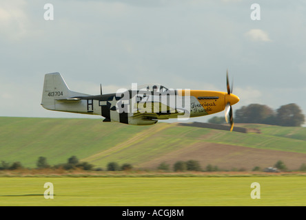 G BTCD 413704 North American P 51D Mustang Ferocious Frankie Duxford October 2006 - Stock Photo