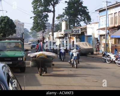 Street scene Lome Togo West Africa - Stock Photo