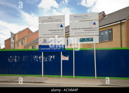 New houses and flats being built on Nightingale Estate in Hackney during 2007 - Stock Photo