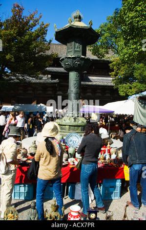 Japan Honshu Island Kyoto City Monthly Flea Market at Toji Temple - Stock Photo