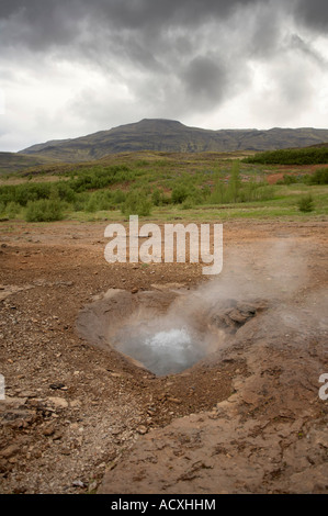 Litli-Geysir hot sping in Haukadalur, Iceland - Stock Photo