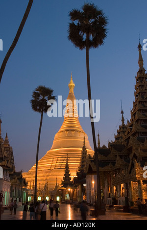 Shwedagon Paya, Rangoon, Myanmar (Burma) - Stock Photo