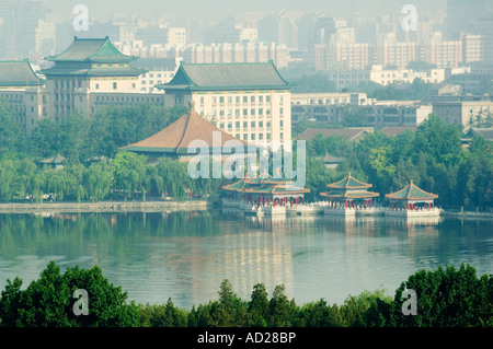 view of Beihai Lake Beijing China - Stock Photo
