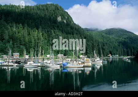 Elfin Cove Village, Small fishing town, Chichagof Island, Southeast Alaska - Stock Photo